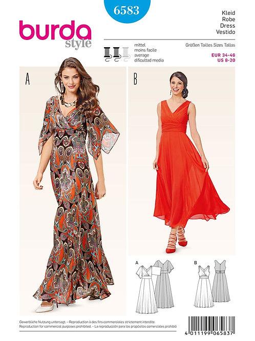 Burda 6538 Abendkleid mit Empire-Taille