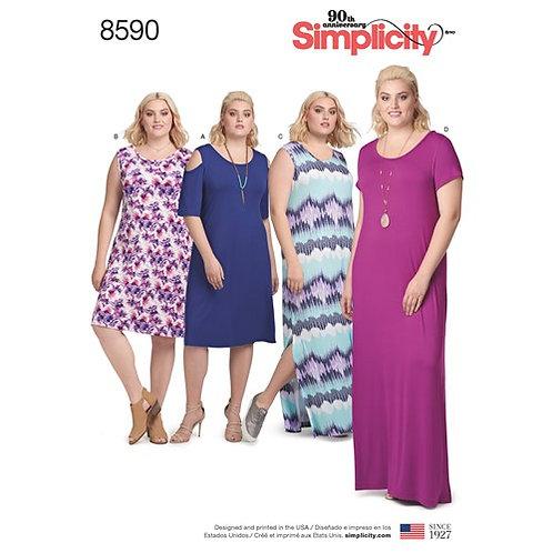 Simplicity 8590 Damen - Kleid