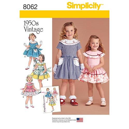 Simplicity 8062 Vintage Kleid für Kleinkinder