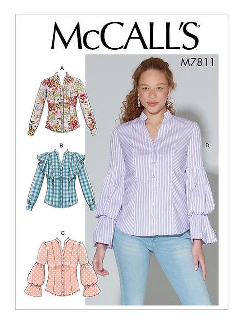 McCall's 7811 klassische Bluse