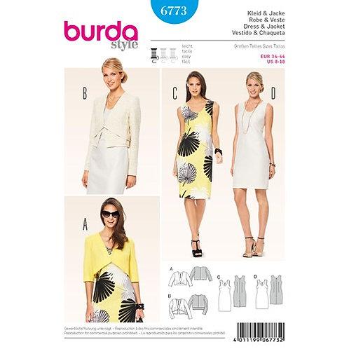 Burda 6773 Etuikleid & Bolerojacke