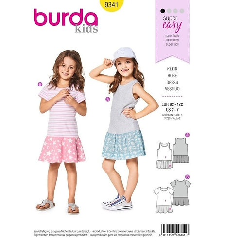 Burda 9341 modisches Kleid