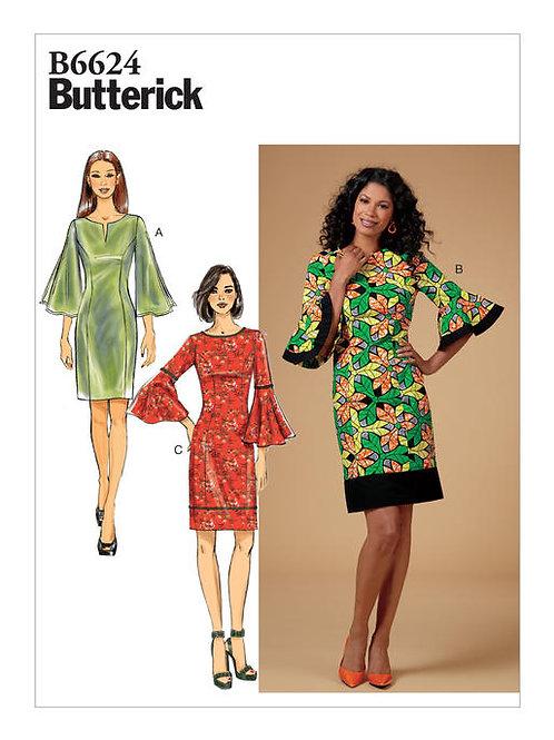 Butterick B6624 Etuikleid