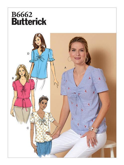 Butterick B6662 Blusenshirt