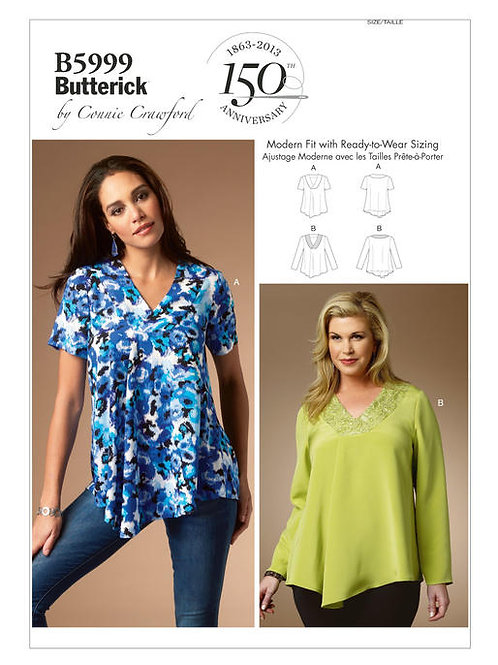 Butterick B5999 lockere Bluse by Connie Crawford