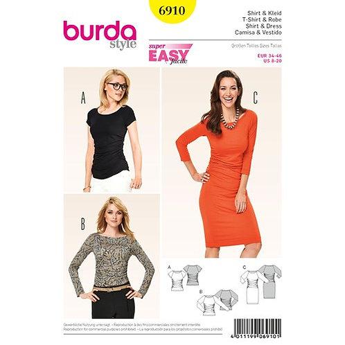Burda 6910 Jersey - Kleid & Shirt