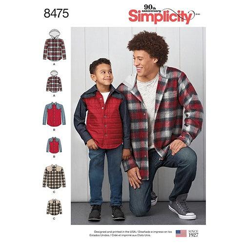 Simplicity 8475 Hemdjacke