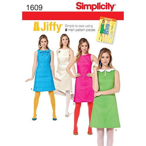 Simplicity 1609 Vintage A-Linien Kleid