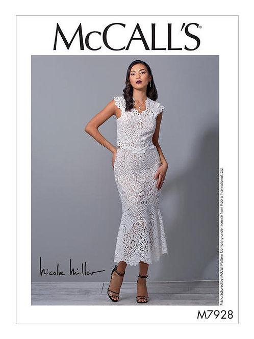 McCall's 7928 extravagantes Spitzenkleid