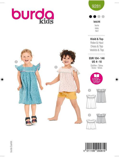 Burda 9281 Kleinkind - Shirt & Kleid