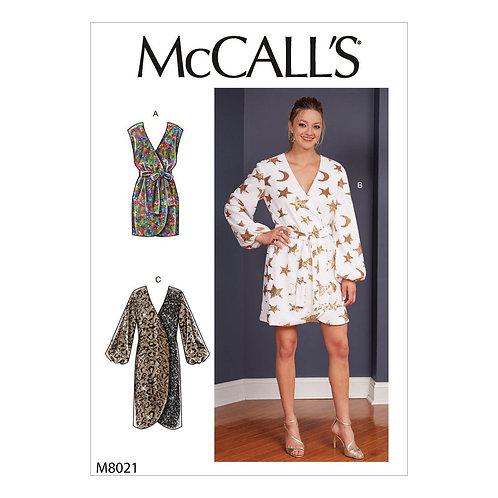 McCall`s M8021 Wickelkleid
