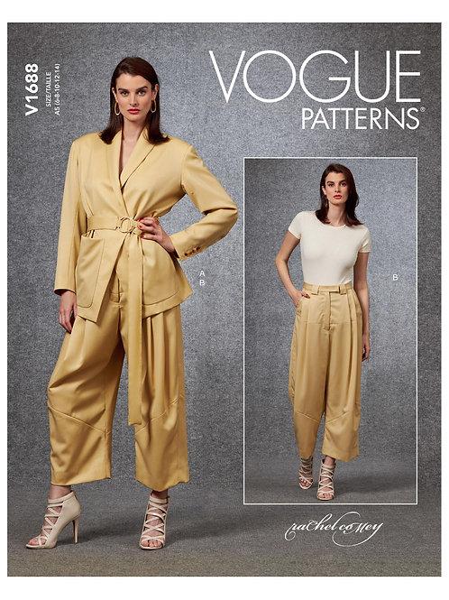 Vogue V1688 Wickeljacke und Hose