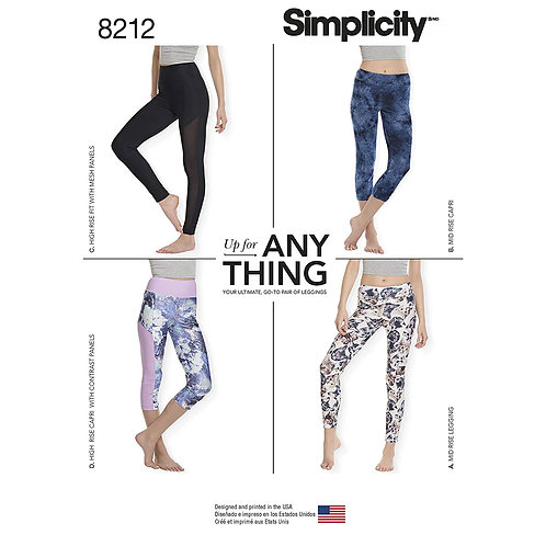 Simplicity 8212 Leggings