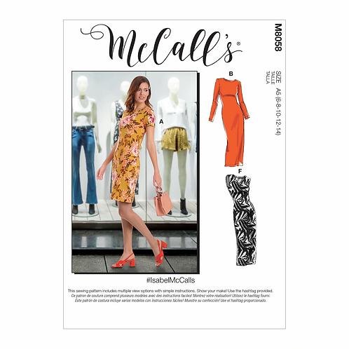 McCall`s M8058 Jersey-Kleid