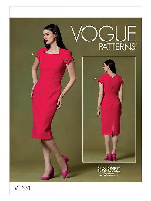 Vogue V1631 schmales Etuikleid