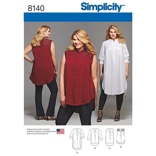 Simplicity 8140 Hemdblusen - Kleid