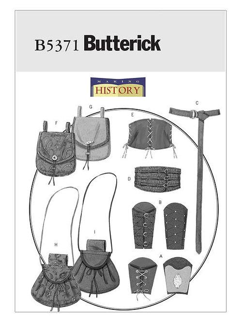 Butterick B5371 historische Taschen, Gürtel usw.