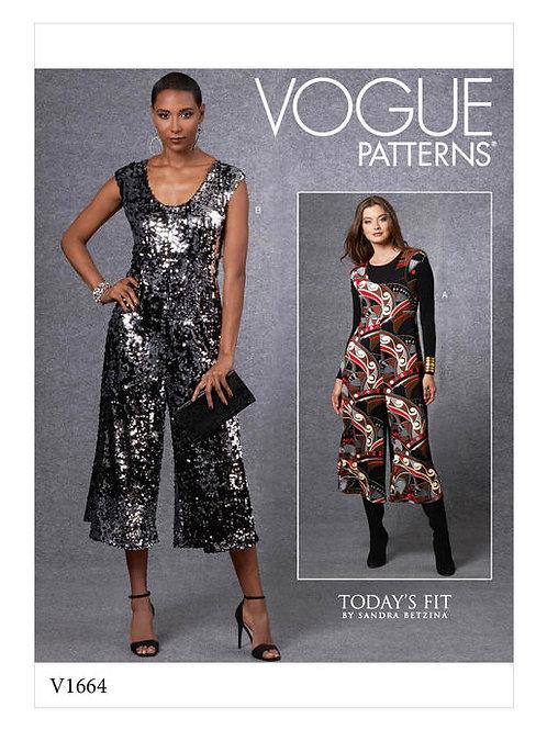 Vogue V1664 festlicher Overall by Sandra Betzina