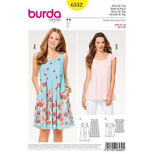 Burda 6532 Hänger - Kleid