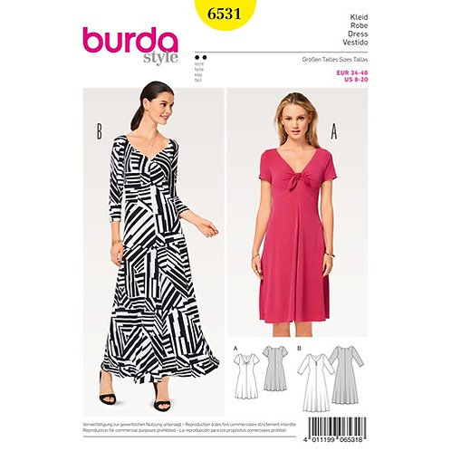 Burda 6531 Jersey - Kleid