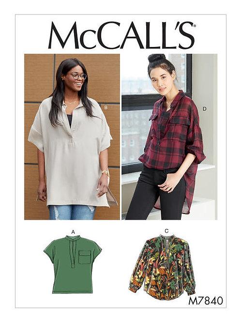 McCall's 7840 lässige Bluse