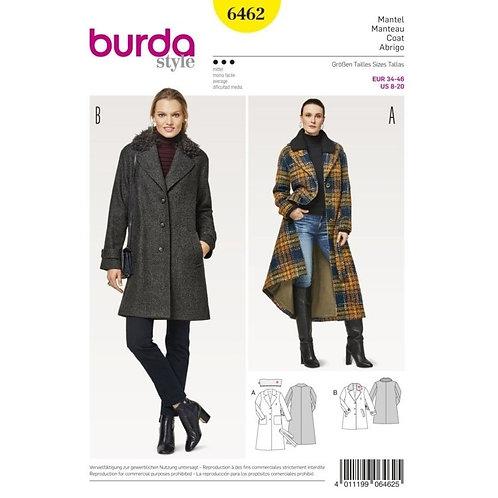 Burda 6462 klassischer Mantel