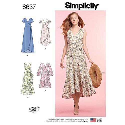 Simplicity 8637 Wickelkleid