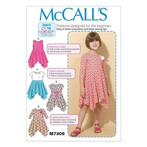 McCall`s M7309 Mädchenkleid
