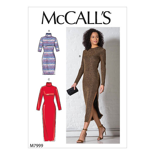 McCall`s M7999 Jersey-Kleid