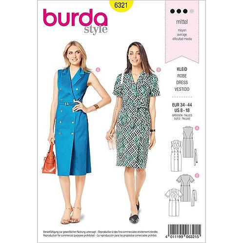 Burda 6321 Trench - Kleid
