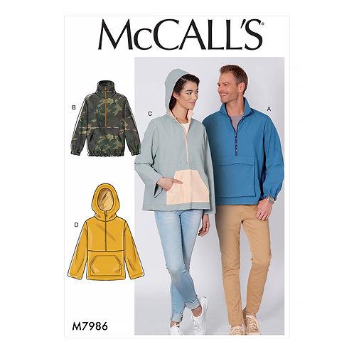 McCall`s M7986 Jacke/Sweater für Damen und Herren