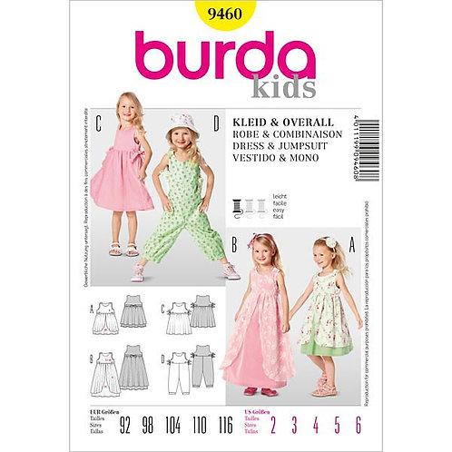 Burda 9460 bequemer Overall & Kleid
