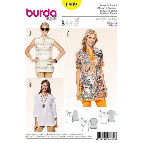Burda 6809 Tunika & Bluse