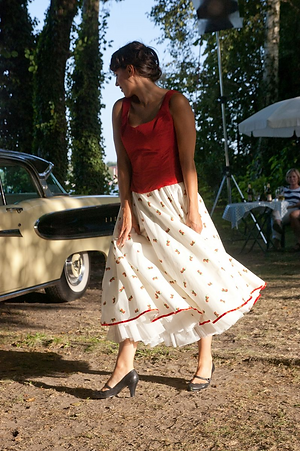 Glockenrock mit Petticoat