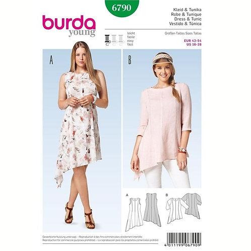 Burda 6790 asymmetrisches Kleid & Tunika
