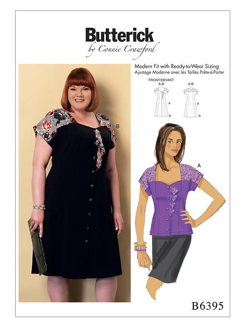 Butterick B6395 Kleid oder Bluse by Conny Crawford