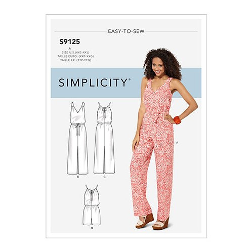 Simplicity 9125 Overall