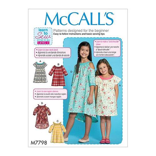 McCall`s M7798 Mädchen-Kleid