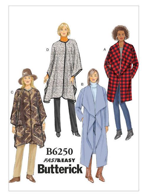 Butterick B6250 Jacke mit Schalkragen
