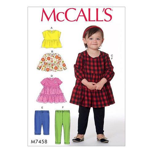 McCall`s M7458 Mädchen-Kleidchen mit Hose