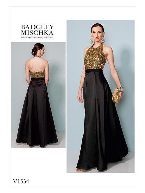 Vogue V1534 Neckholder - Abendkleid by Badgley Mischka