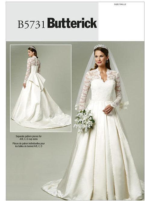 Butterick B5731 Brautkleid mit Schleppe