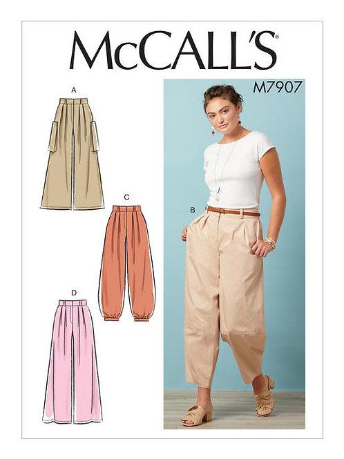 McCall's 7907 weit geschnittene Hose