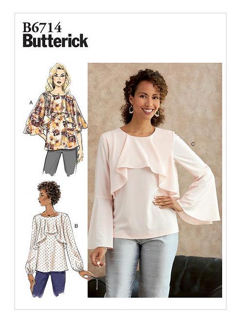 Butterick B6714 lockere Bluse mit Variation