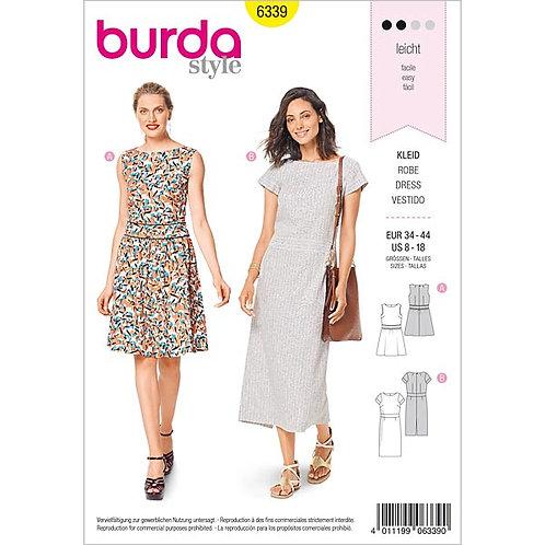 Burda 6339 modisches Kleid