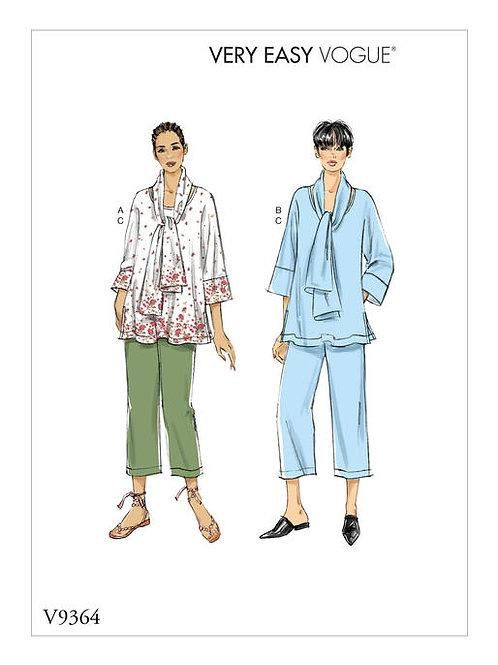 Vogue V9364 Hose & Bluse