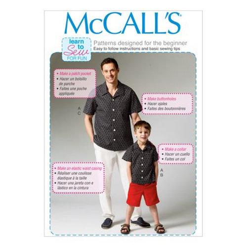 McCall`s M6972 Hemd und Hose für Vater und Sohn