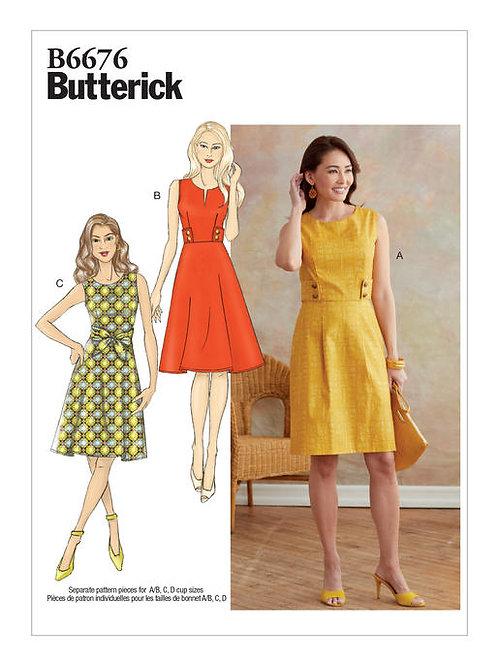 Butterick B6676 ärmelloses Kleid