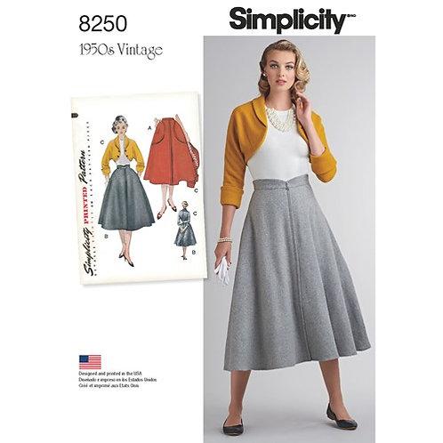 Simplicity 8250 Vintage - Rock & Bolero