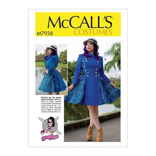 McCall`s M7938 Damen-Mantel